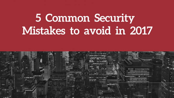 Security Mistakes