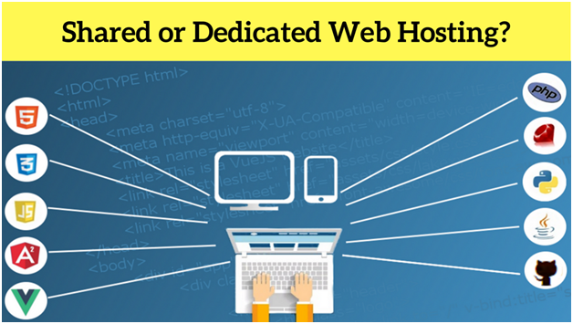 shared or dedicated web hosting