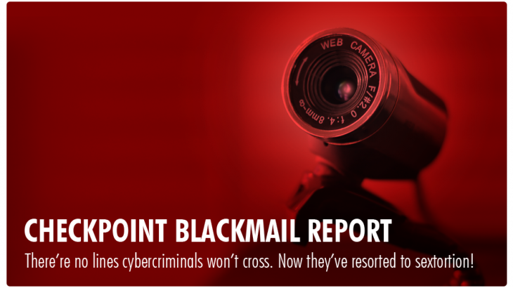 Checkpoint reports rising threat of sextortion.