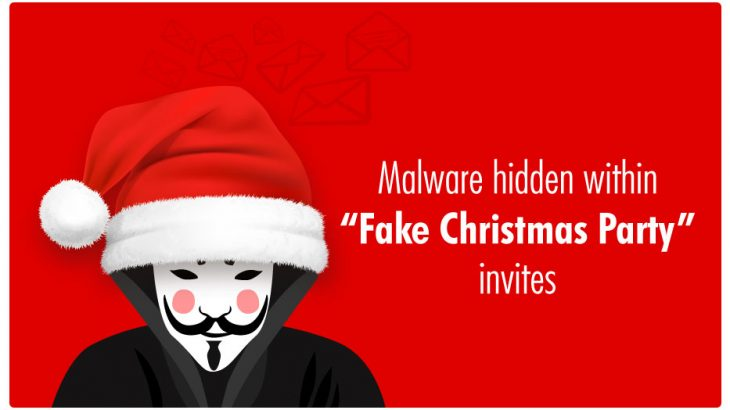 Malware found in fake Christmas Party Invite